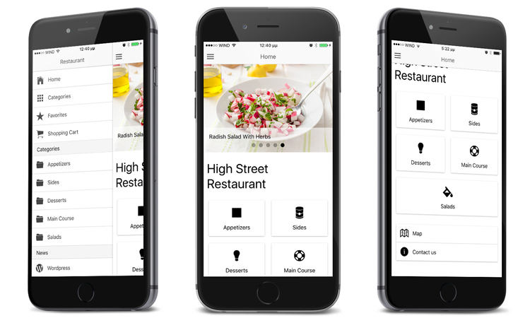Restaurant Ionic, Restaurant Apps, Android Apps