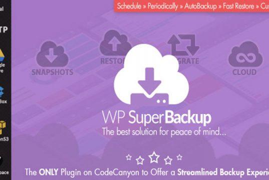 Super Backup, WordPress Plugin, WordPress Clone