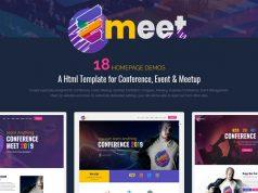 Emeet Website Template, Event Website Template, Meetup Website Template