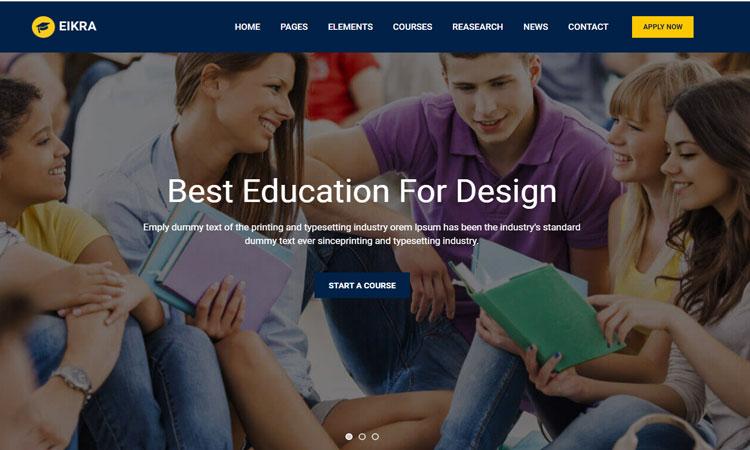 Eikra Education WordPress Theme, Modern Education WordPress Theme, Modern WordPress Theme