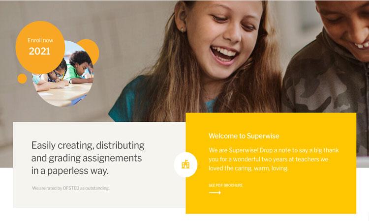 Superwise Classroom WordPress Theme, Google Classroom Theme, Classroom WordPress Theme